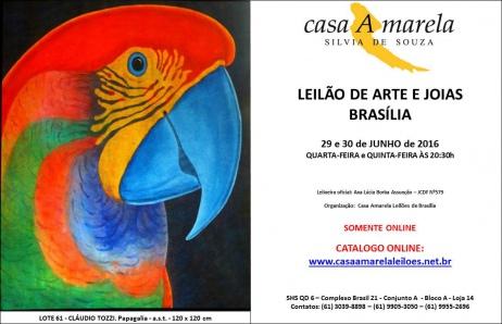 LEILÃO DE ARTE E JOIAS BRASÍLIA