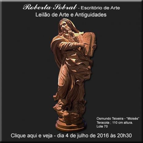 Leilão de Arte e Antiguidades - Roberta Sobral - Escritório de Arte - 4/07/2016