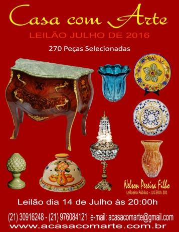 LEILÃO CASA COM ARTE - JULHO 2016