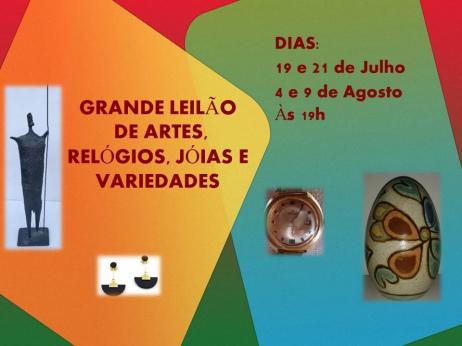 GRANDE LEILÃO DE ARTES, RELÓGIOS, JÓIAS E VARIEDADES