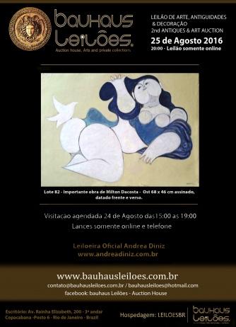 LEILÃO DE ARTE, ANTIGUIDADES & DECORAÇÃO - 2nd ANTIQUES & ART AUCTION
