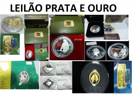 LEILÃO ESPECIAL PRATA E OURO - Numismática