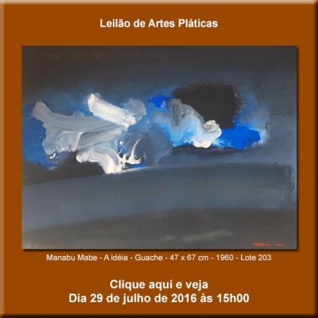 Leilão de Artes Plásticas - 29/07/2016