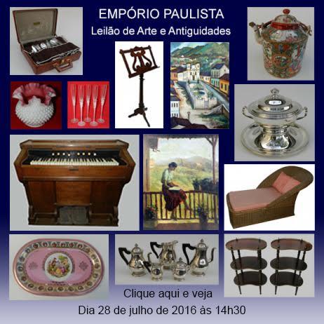 Empório Paulista - Leilão de Arte de Antiguidades - 28/07/2016