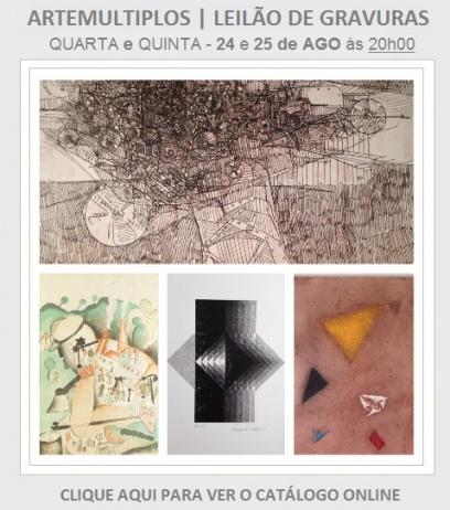 Leilão de Gravuras ARTEMULTIPLOS - 24 e 25/08/2016
