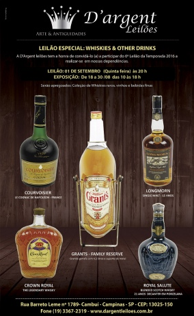 LEILÃO ESPECIAL:  WHISKIES & OTHER DRINKS