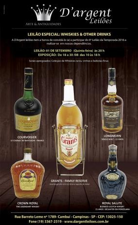 LEILÃO ESPECIAL:  WHISKIES & OTHER DRINKS