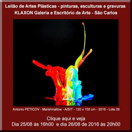 Leilão de Arte Plásticas - Arte e Antiguidades - São Carlos - 25 e 26/08/2016