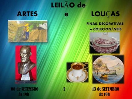 LEILÃO DE ARTES E LOUÇAS FINAS, DECORATIVAS E COLECIONÁVEIS