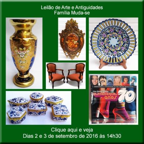 Leilão de Arte e Antiguidades - Família Muda-se - Nova Era Leilões