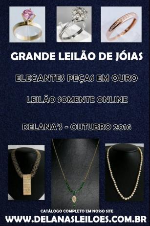 GRANDE LEILÃO OUTUBRO - JÓIAS & NUMISMÁTICA | DELANAS | BRASÍLIA-DF