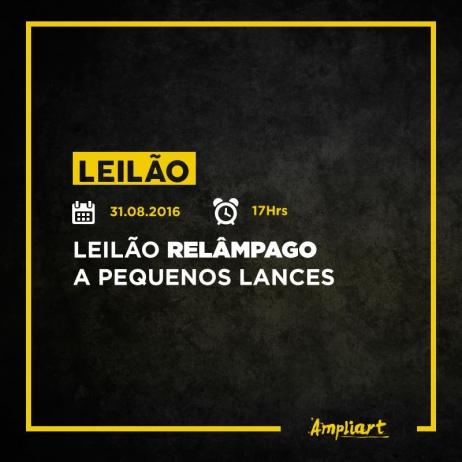 LEILÃO RELÂMPAGO A PEQUENOS LANCES