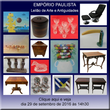 Empório Paulista - Leilão de Arte de Antiguidades - 29/09/2016