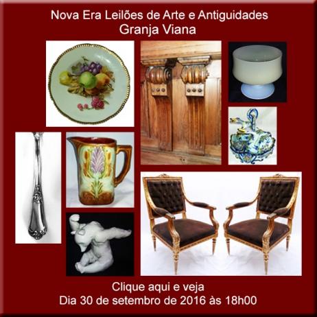 1º. LEILÃO DE ARTE, ANTIGUIDADES E CURIOSIDADES - GRANJA VIANA (COTIA) 30/09/2016