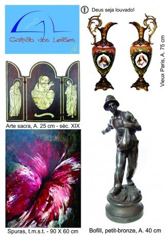 LEILÃO DE 15 e 17 OUTUBRO: ARTE, ANTIGUIDADES, DECORAÇÃO,TELECARTOFILIA E LIVROS