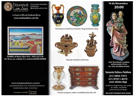 LEILÃO DE ARTE E ANTIGUIDADES - 3Th ANTIQUES, DECOR & ART AUCTION