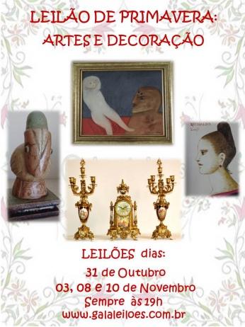 LEILÃO DE PRIMAVERA: ARTES E DECORAÇÃO.