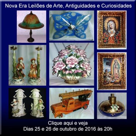 NOVA ERA LEILÕES DE ARTE,  ANTIGUIDADES E CURIOSIDADES