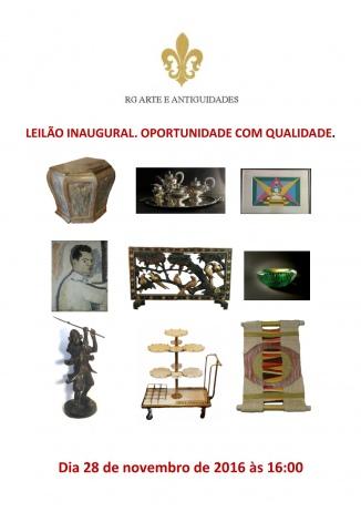 PRIMEIRO LEILÃO RG ANTIGUIDADES. OPORTUNIDADE COM QUALIDADE - 28/11/2016