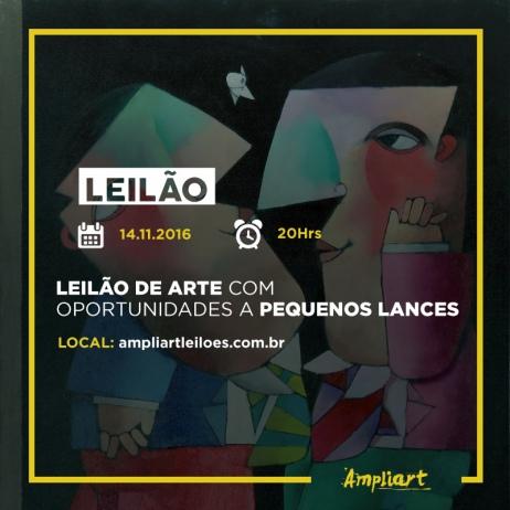 LEILÃO DE ARTE COM OPORTUNIDADES A PEQUENOS LANCES
