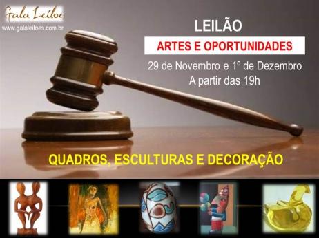 LEILÃO DE ARTES E OPORTUNIDADES