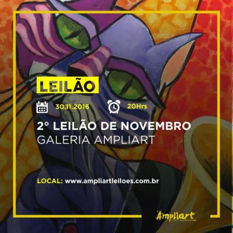 SEGUNDO LEILÃO DE NOVEMBRO - GALERIA AMPLIART