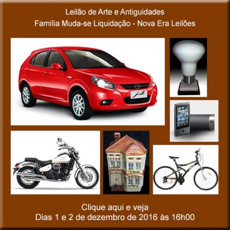 Leilão de Arte e Antiguidades - Família Muda-se LIQUIDAÇÃO - Nova Era Leilões - 01 e 02/12/2016