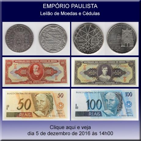 Empório Paulista - 4º. Leilão de Moedas e Cédulas - 05/12/2016