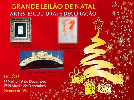 GRANDE LEILÃO DE NATAL ARTES, ESCULTURAS e DECORAÇÃO
