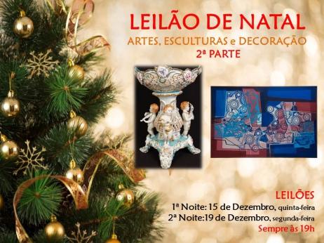 LEILÃO DE NATAL: ARTES, ESCULTURAS e DECORAÇÃO - 2ª PARTE