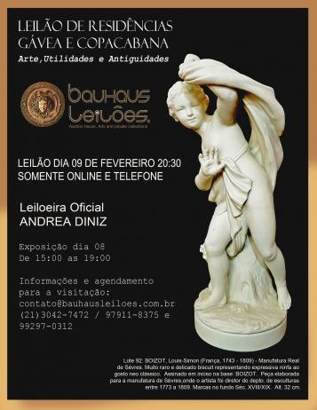 LEILÃO RESIDENCIAL GAVEA E COPACABANA - ARTE, UTILIDADES E ANTIGUIDADES
