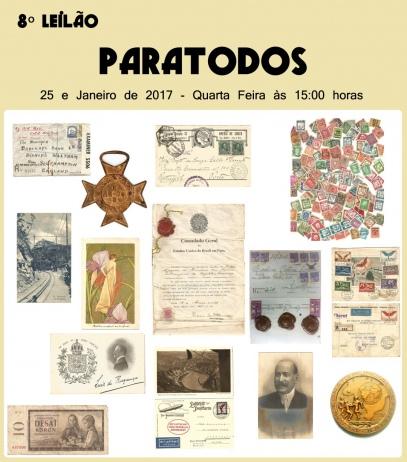 8º LEILÃO PARATODOS DE HISTORIA POSTAL.