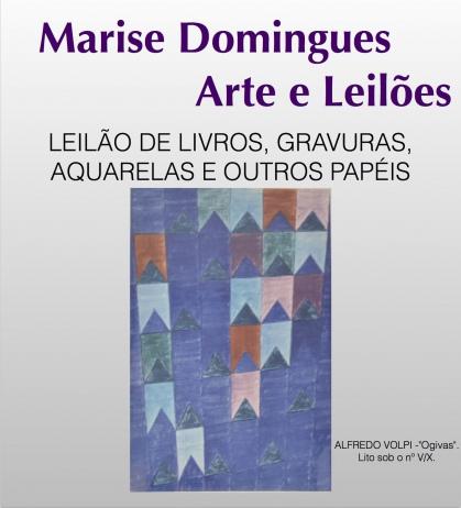 LEILÃO DE LIVROS, GRAVURAS, AQUARELAS E OUTROS PAPÉIS