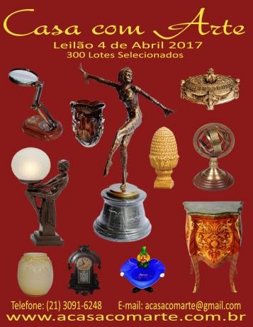 LEILÃO CASA COM ARTE - ABRIL 2017