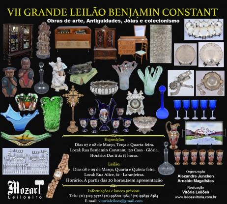 VII GRANDE LEILÃO BENJAMIN CONSTANT