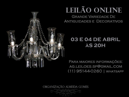 LEILÃO On-Line DE ANTIGUIDADES | CACARECOS | DECORATIVOS EM GERAL