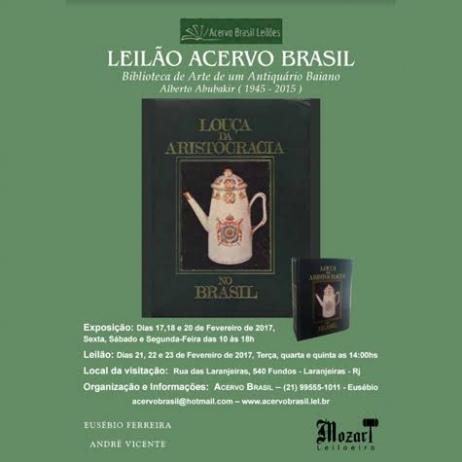 LEILÃO ACERVO BRASIL Biblioteca de Arte de um Antiquário Baiano     Alberto Abubakir ( 1945 - 2015 )