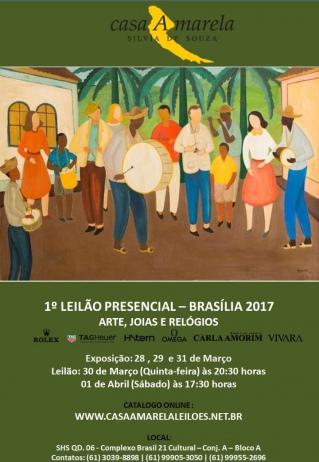 LEILÃO PRESENCIAL BRASILIA. ARTE, JOIAS, RELÓGIOS (ROLEX, H.STERN, OMEGA, CARLA AMORIM...)
