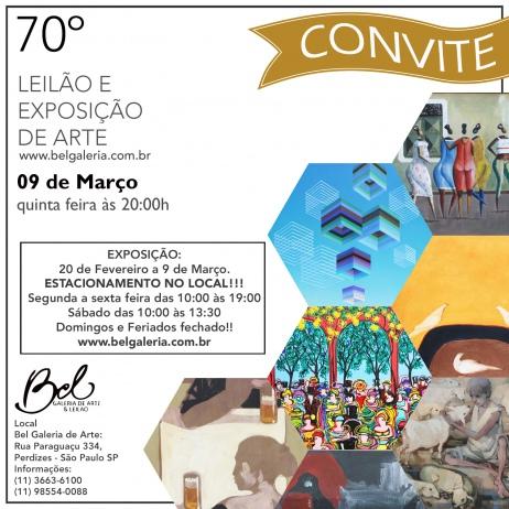 70 LEILÃO DE ARTE - Dia 9 de março as 20 horas