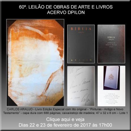 60º LEILÃO Acervo DPilon - OBRAS DE ARTE E LIVROS - OPORTUNIDADES