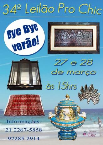 34º Leilao Pró Chic - Bye Bye Verão