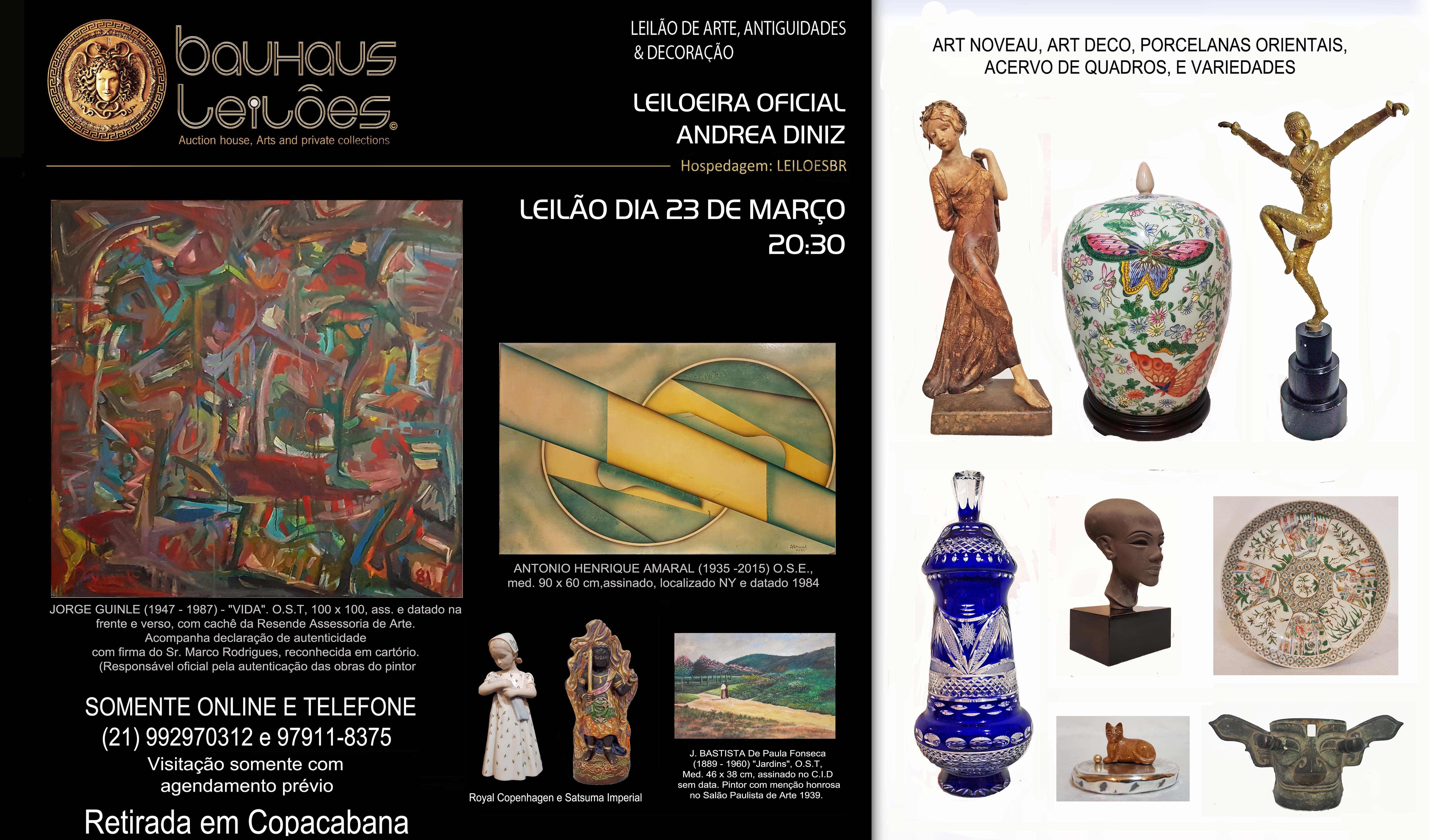 LEILÃO ANTIGUIDADES E DECOR - COPACABANA -  BAUHAUS AUCTION HOUSE