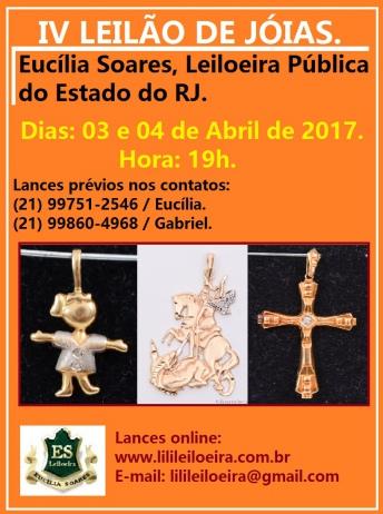 IV LEILÃO DE JÓIAS.