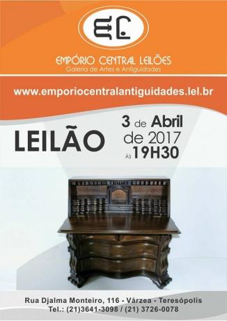 LEILÃO DE ARTE E ANTIGUIDADES EMPÓRIO CENTRAL