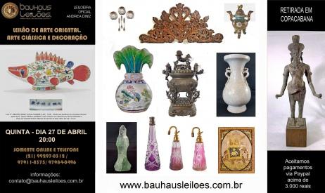LEILÃO ANTIGUIDADES E DECORAÇÃO - BAUHAUS AUCTION HOUSE