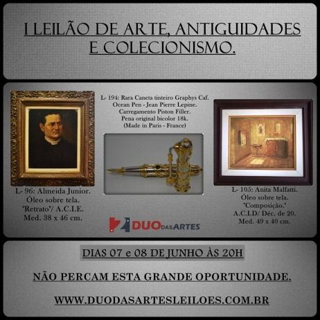 LEILÃO DE ARTE, ANTIGUIDADES E COLECIONISMO.