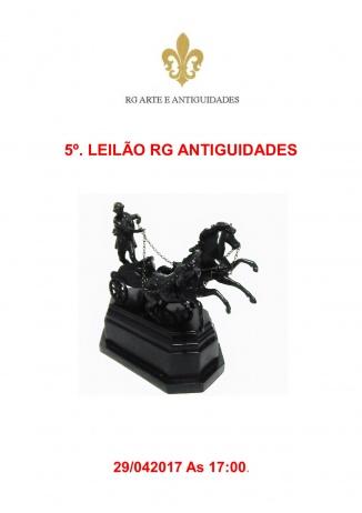 4º. LEILÃO RG ANTIGUIDADES - 26/04/2017 As 20:00