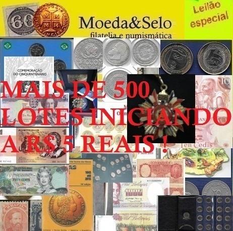 141- LEILÃO MOEDA E SELO 70% DOS LOTES ABAIXO DE R$ 10 REAIS NO LANCE !