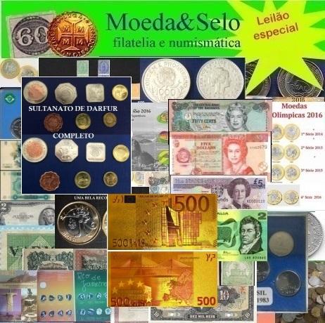 142 LEILÃO MOEDA E SELO  70% DOS LOTES ABAIXO DE R$ 10 REAIS NO LANCE !