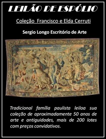 LEILÃO DE ESPÓLIO - Coleção Francisco e Elda Cerruti